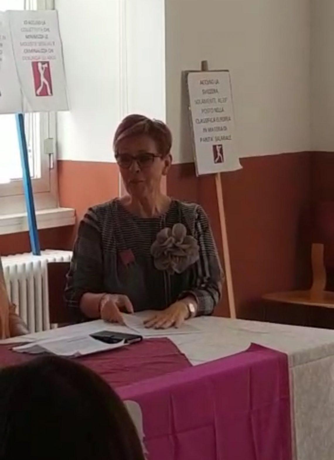14 giugno 2018: azioni di lotta, parla Ornella Buletti
